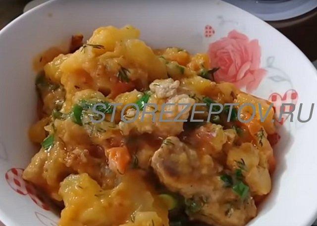 Рецепт картошки с мясом в мультиварке