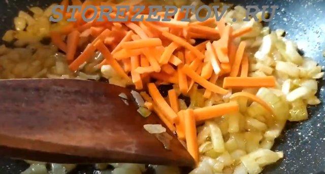 Пассировка овощей для макарон по-флотски
