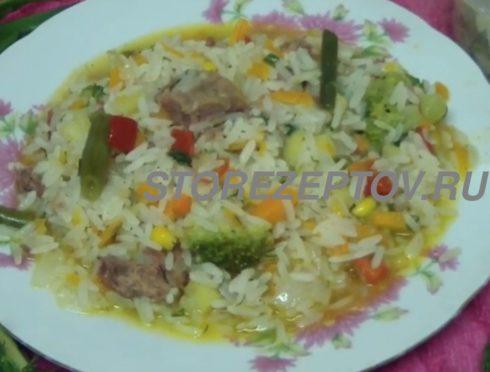 Рецепт тушенки с рисом на сковороде