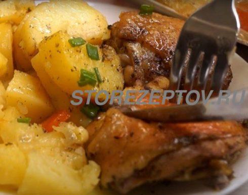 Рецепт курицы кусочками с картошкой в духовке