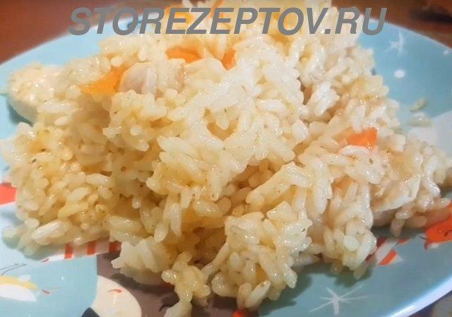 Пошаговый рецепт с фото вкусного плова с курицей в мультиварке