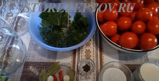 Ингредиенты для помидоров на зиму с аспирином