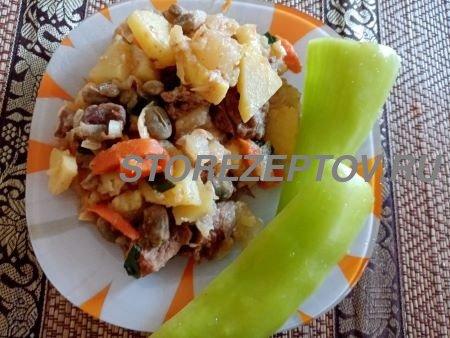 Рецепт тушеных с овощами и мясом патиссонов