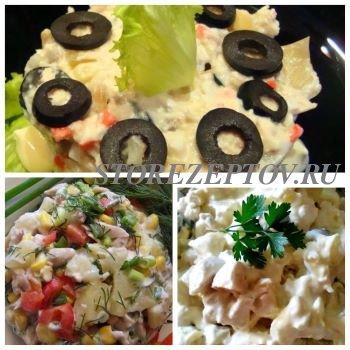 3 вкусных салата с ананасами и курицей: рецепты без сыра