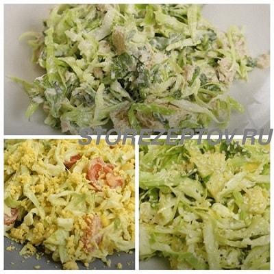 Вкусные салаты из капусты без морковки