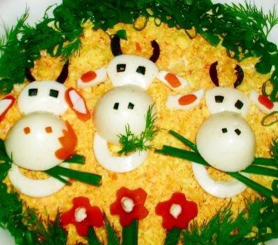 Рецепты и украшение праздничных блюд на Новый 2021 год Быка с пошаговым фото