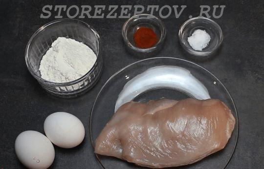 Ингредиенты для куриных наггетсов