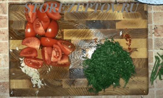 Нарезка овощей и зелени